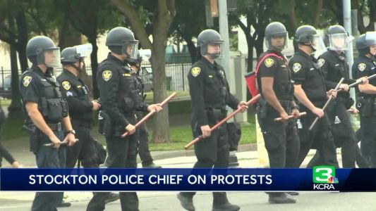 Stockton police chief talks about protests in city