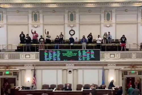 Protesters removed from Oklahoma House - after opposing bills that target protests