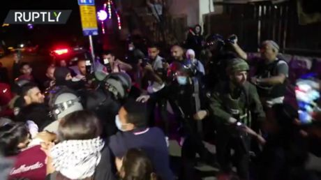 Violence erupts in East Jerusalem as Israeli police disperse protesters demonstrating against Palestinian evictions