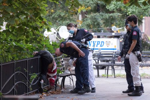 Surrender in the war on drugs: Body found outside NYPD HQ likely OD'd