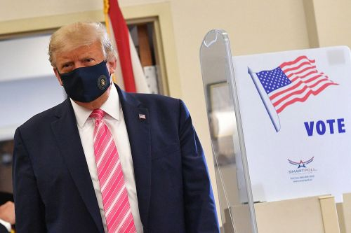 Trump casts his early ballot in Florida, urges in-person voting