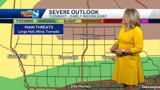 Incoming storms could be severe Tuesday