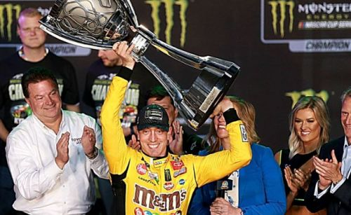 Kyle Busch leads Gibbs trio to win 2nd NASCAR championship