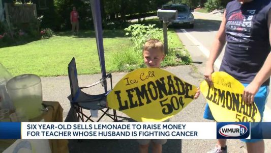 6-year-old sells lemonade to raise money for teacher whose husband has cancer