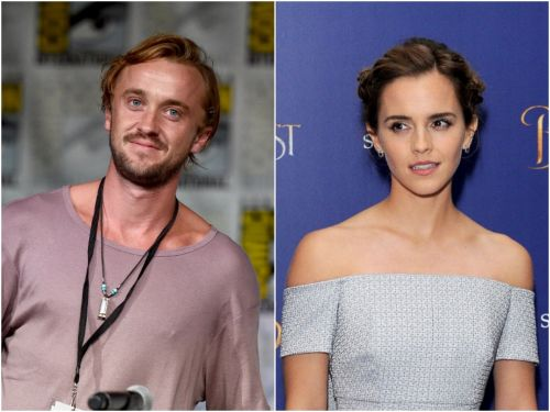 'Harry Potter' fans are begging for 'Dramione' to couple up after Tom Felton shared photos of him and Emma Watson in South Africa