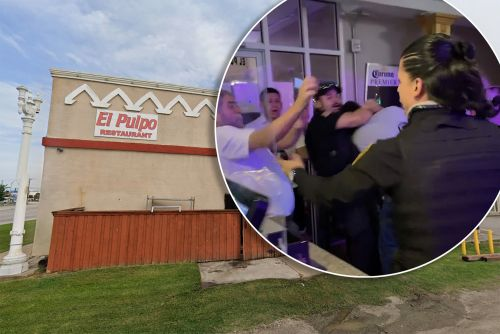 Texas security guard unleashes martial arts moves in restaurant brawl