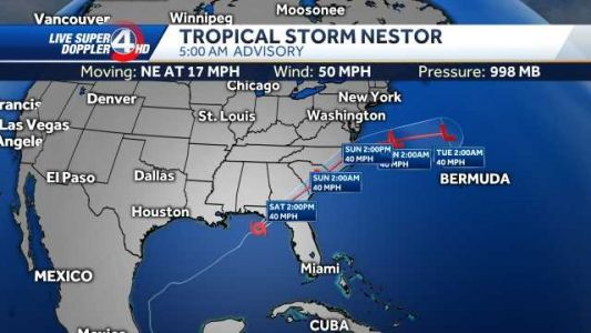 Rain moves in from Tropical Storm Nestor, promises soggy Saturday
