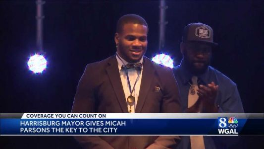 Micah Parsons receives key to city of Harrisburg after being drafted into NFL