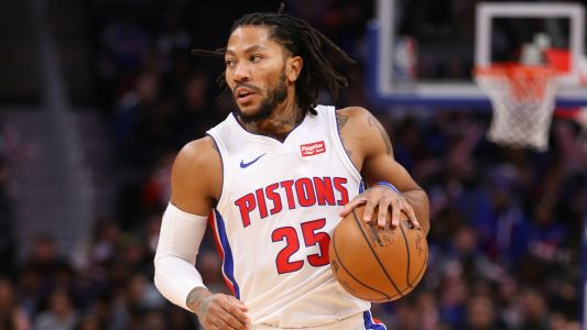 Derrick Rose trade rumors: Lakers, 76ers, Clippers interested in acquiring Pistons guard