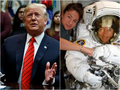 2 female astronauts politely corrected Trump mid-spacewalk after the president made a galling error