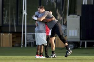 Brady learning new playbook, excited to get started in Tampa