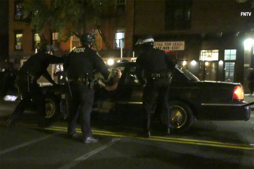 'I'm trying to go home!' Driver speeds through NYPD at Brooklyn protest