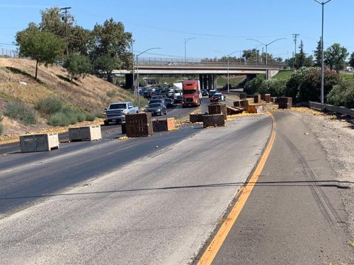 Officials: Spilled peaches on roadway slow HWY 99 traffic
