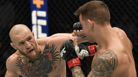 'The fight is off': Furious Conor McGregor cancels UFC rematch with 'f***ing braindead' Dustin Poirier over charity donation claim