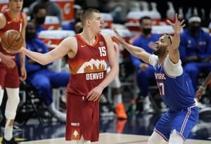 Nikola Jokic, Nuggets start fast, cool off Knicks