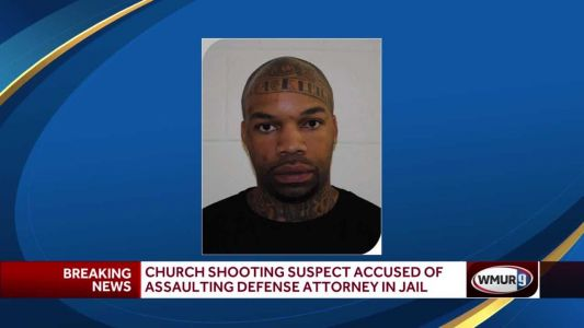 Church shooting suspect accused of assaulting defense attorney