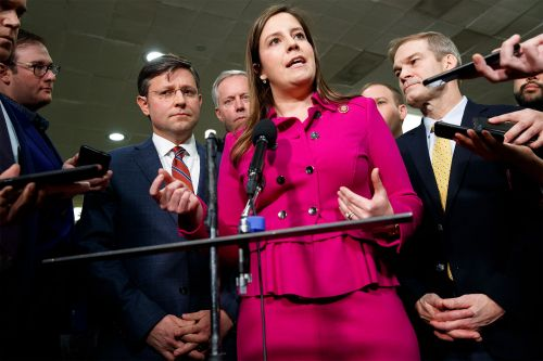 NY Rep. Elise Stefanik makes her pitch to conservatives ahead of leadership vote