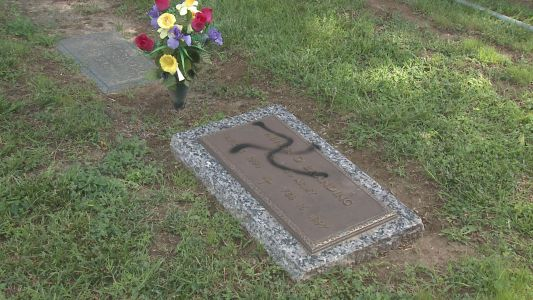 Headstones spray-painted with swastikas in Illinois cemetery