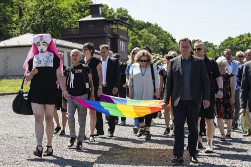 LGBT prisoners at Buchenwald remembered at Nazi camp site