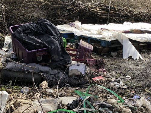 Trash continues to pile up along American River Parkway