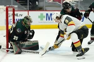 Golden Knights beat Coyotes 1-0 on Karlsson's late goal