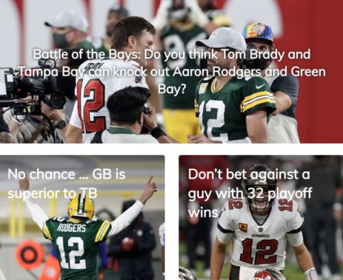 Battle of the Bays Poll: Do you think Tom Brady and Tampa Bay can knock out Aaron Rodgers and Green Bay?