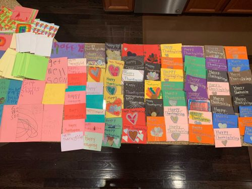 Children write 120 Thanksgiving cards to COVID-19 patients at Christ Hospital