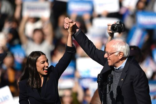 AOC lauds Sanders in emotional endorsement speech at Queens rally
