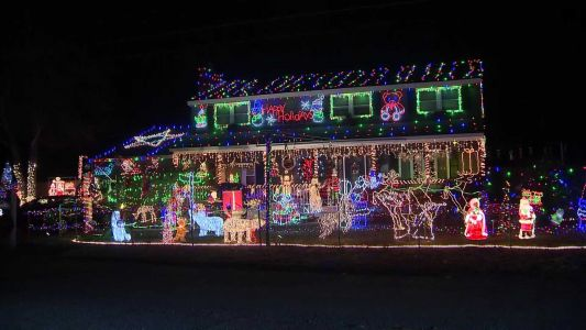 Family's Christmas display raising money for infant with rare condition