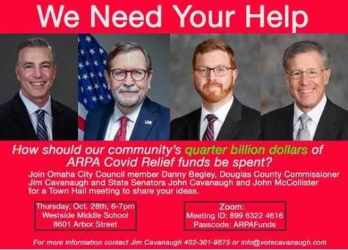 Elected officials to hold town hall; discuss how COVID-19 relief funds should be spent
