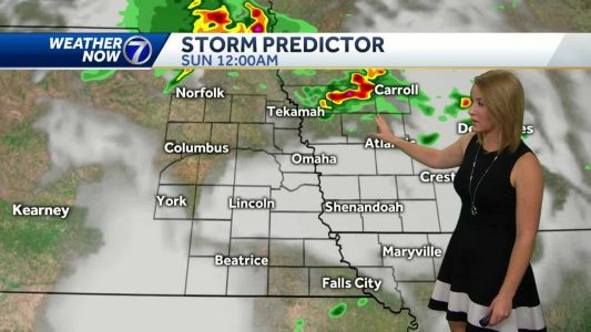 Spotty showers early, strong storms are possible overnight