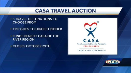 Organization holds fundraising travel auction for abused children in need of mentors