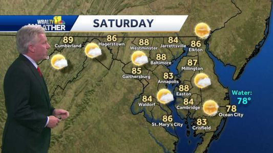 Mostly clear Friday night leading into sunny Saturday