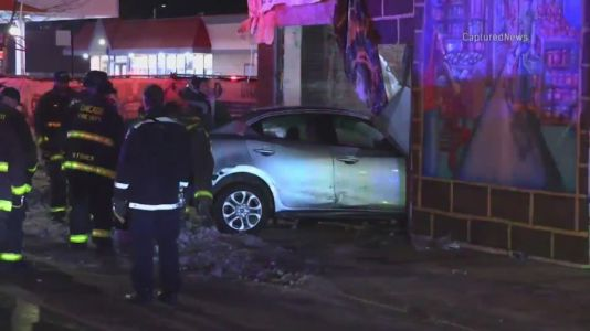 1 person injured after car crashes into Englewood building