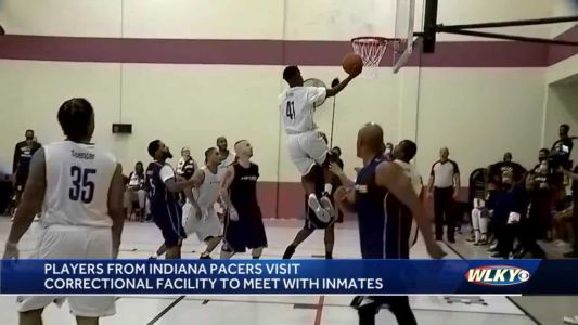Indiana Pacers visit southern Indiana jail as part of NBA's Play For Justice partnership