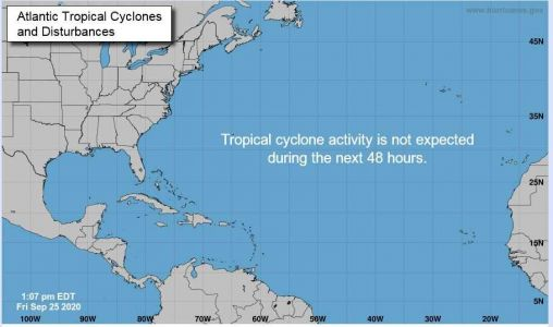 No tropical activity on National Hurricane Center's daily outlook for first time since early August
