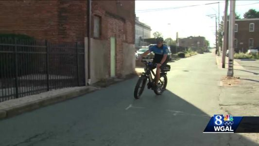 York police officers have a new way to get around the city