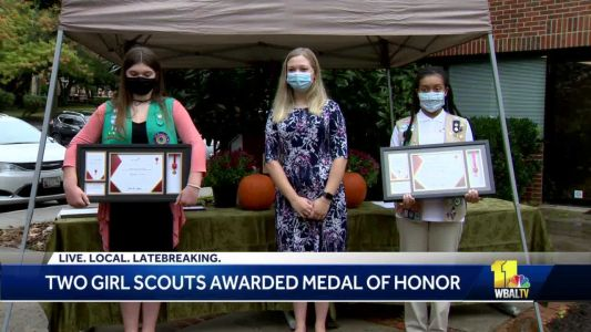 2 Maryland Girl Scouts receive Lifesaving Medal of Honor