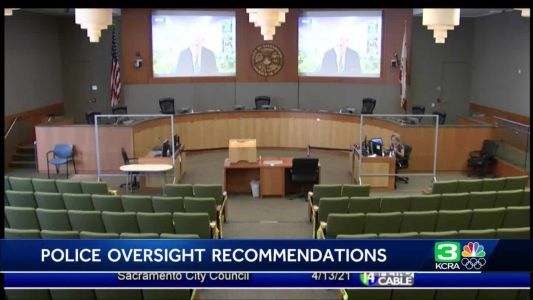 When will Sacramento adopt its police review commission suggested reforms?