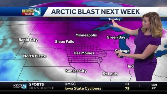 Highs in the 50s today, Arctic air on the way