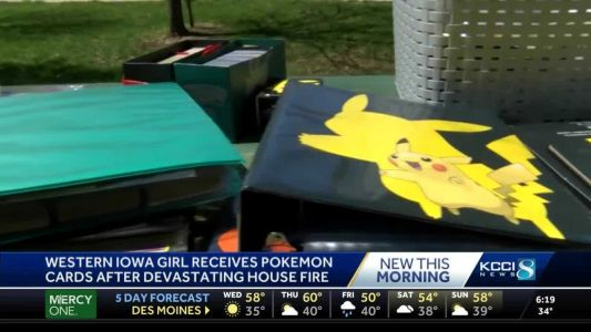 Generous Iowans help girl replace Pokemon cards after fire