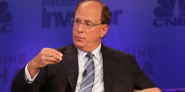 BlackRock's Fink says cryptocurrencies may become a great asset class- but his institutional clients aren't interested in it