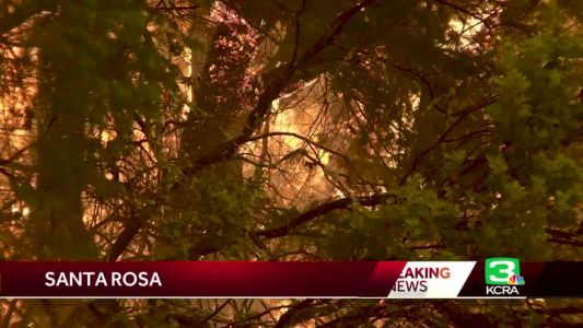 Thousands in Sonoma County evacuated from fast-moving Glass Fire