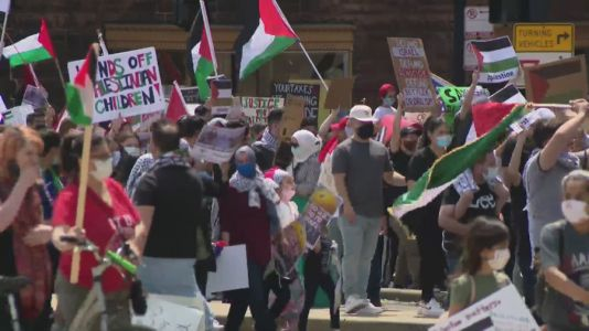 Chicago Pro-Palestinian group march for end of Israeli airstrikes amid deadly conflict