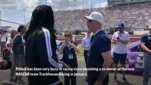 NASCAR co-owner Pitbull mixing racing with tour