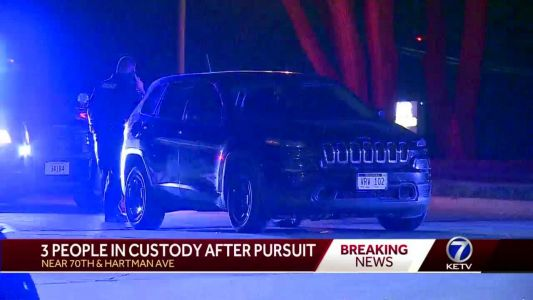 Police: 3 in custody after stolen SUV pursuit