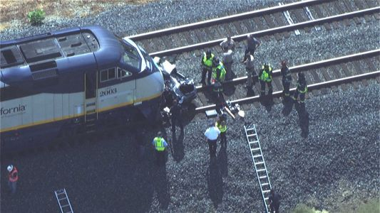 1 dead after train collides with vehicle in Yolo County