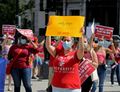 Boston Teachers Rally For Remote Opening