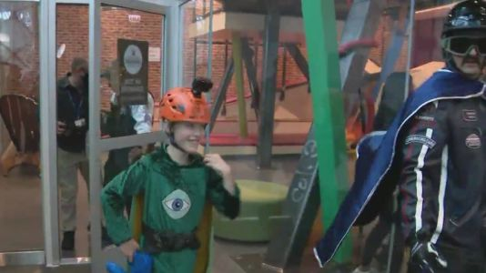 CPD, CFD & Make-A-Wish help Portage Park boy become superhero for a day