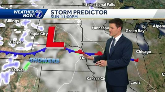 Mild Sunday evening, spotty showers possible Presidents' Day